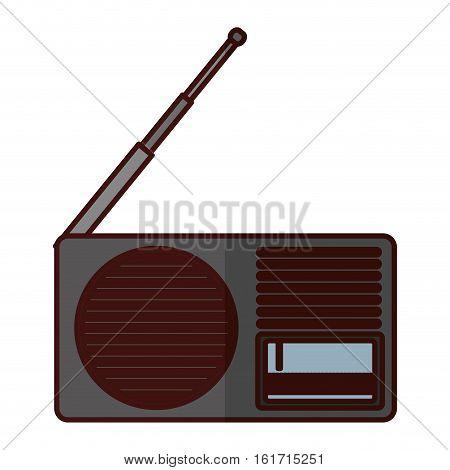 analog radio icon image vector illustration design