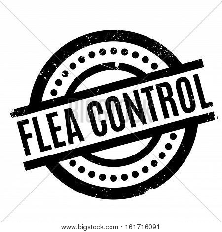 Flea Control rubber stamp. Grunge design with dust scratches. Effects can be easily removed for a clean, crisp look. Color is easily changed.