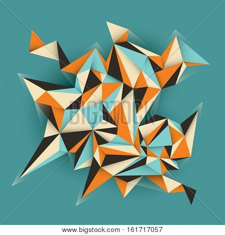 Abstract geometric object in color. Vector illustration.