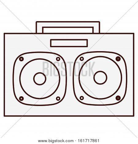 boom box icon image vector illustration design