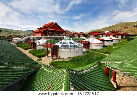 The mongolia palace at Ulaanbaatar , Mongolia