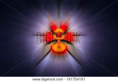 internet firewall idea with lock blended over motion blur background with rays emit