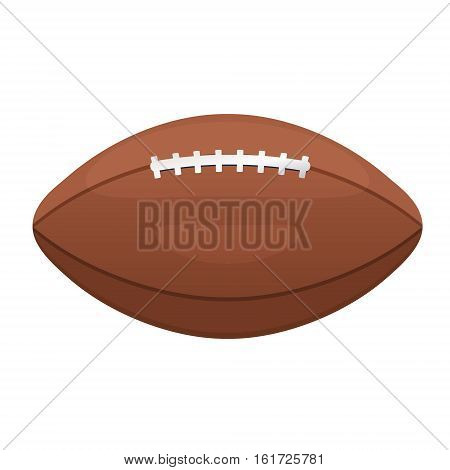 American or Canadian football vector icon. Sport leather ball equipment sign. Gridiron football symbol.