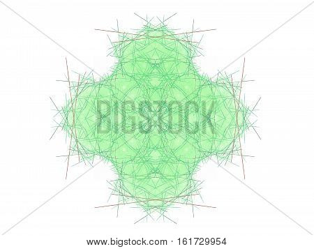Abstract Fractal With A Green Pattern