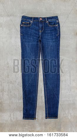 blue jeans trouser isolated-gray background