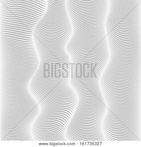 Abstract Background With Gray Distorted Lines.