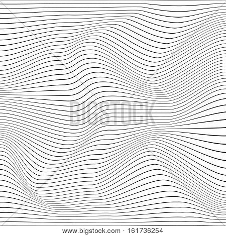 Abstract Background With Distorted Shapes On A White Background.