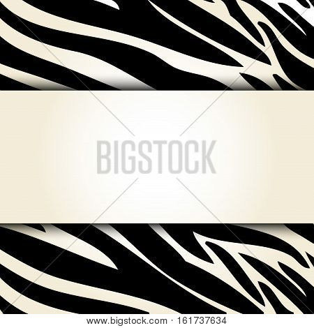 zebra animal print pattern blank emblem image vector illustration design