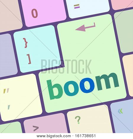 Boom Button On Computer Pc Keyboard Key