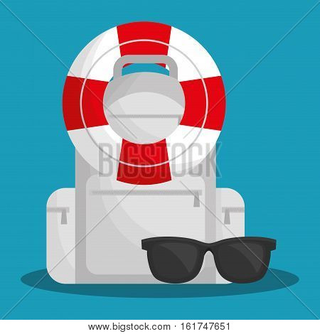 life preserver with travel related icons image vector illustration design