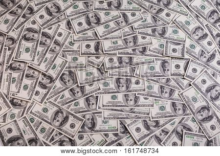 background of the money hundred dollar bills front side face. background of dollars old hundred-dollar bill face millionaire businessman black and white