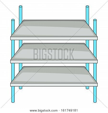 Industrial shelving icon. Cartoon illustration of industrial shelving vector icon for web design