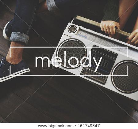 Melody Vintage Vector Graphic Concept