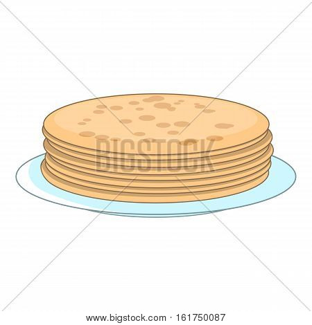 Stack of pancakes icon. Cartoon illustration of stack of pancakes vector icon for web design