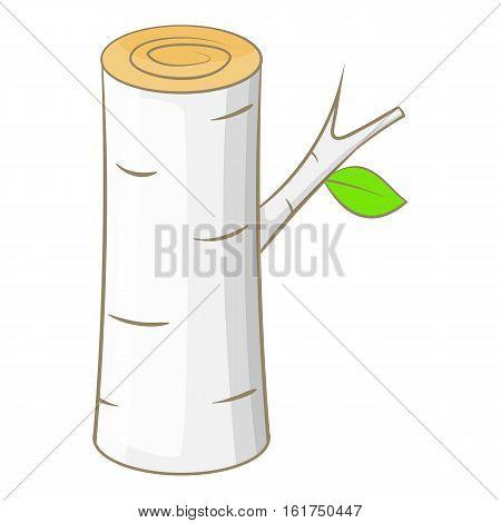 Birch icon. Cartoon illustration of birch vector icon for web design