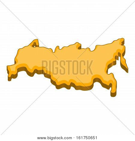 Russia map icon. Cartoon illustration of Russia map vector icon for web design