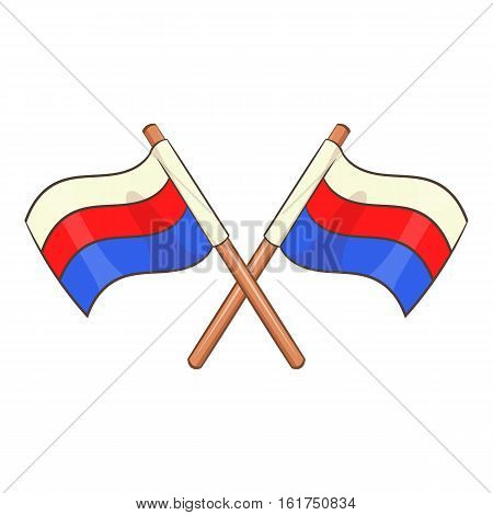 Russian national flags icon. Cartoon illustration of russian national flags vector icon for web design