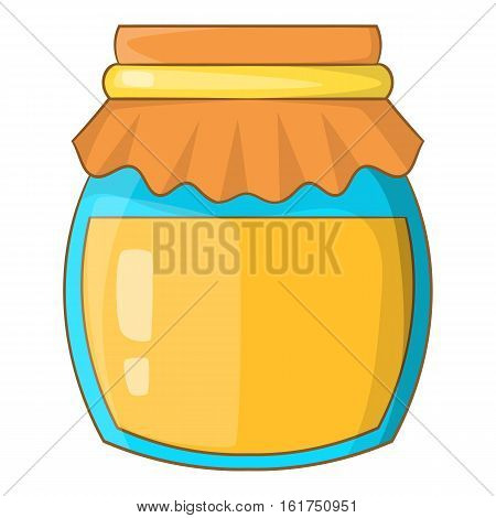 Jar of honey icon. Cartoon illustration of jar of honey vector icon for web design