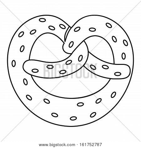 Pretzel icon. Outline illustration of pretzel vector icon for web