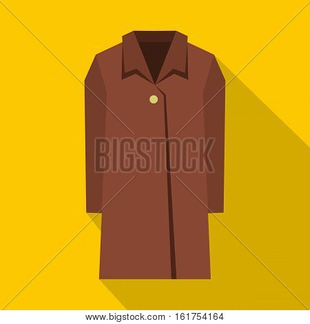 Coat icon. Flat illustration of coat vector icon for web