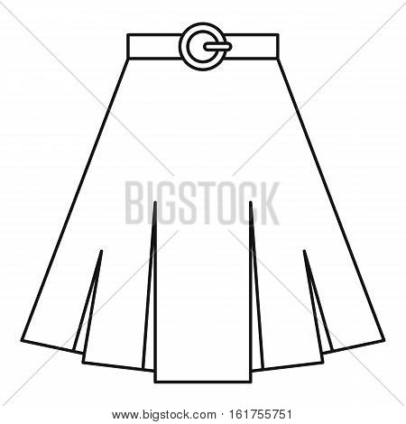 Skirt icon. Outline illustration of skirt vector icon for web