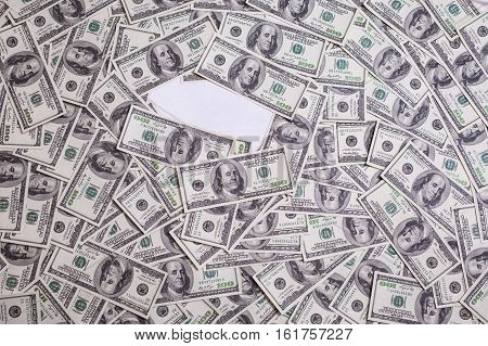 hundred dollar bills front side. background of dollars old hundred-dollar bil face motivation success you can be rich copyspace a place for an inscription money background place for text