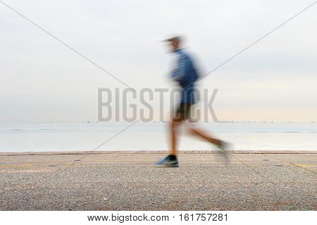 Jogging On A Quayside