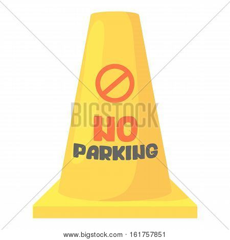 Road barrier icon. Cartoon illustration of road barrier vector icon for web