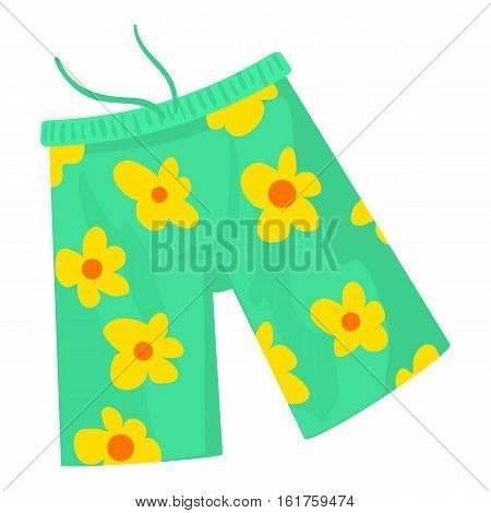 Beach shorts icon. Cartoon illustration of beach shorts vector icon for web