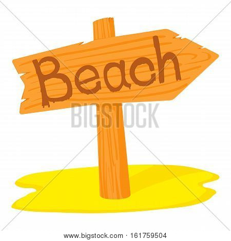 Beach pointer icon. Cartoon illustration of beach pointer vector icon for web