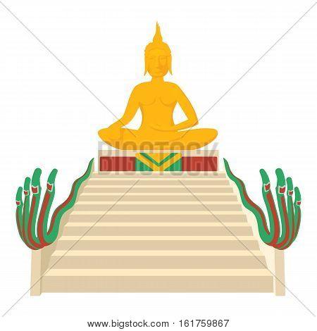 Budda icon. Cartoon illustration of budda vector icon for web