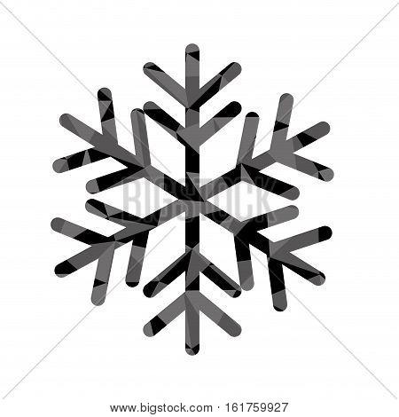 winter snowflake icon over white background. vector illustraiton