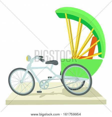 Indian bicycle icon. Cartoon illustration of indian bicycle vector icon for web