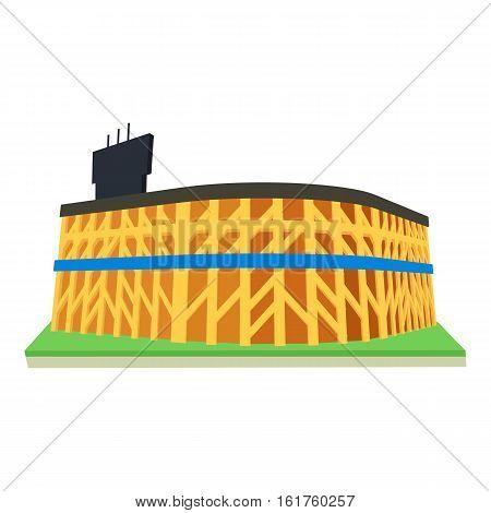 Stadium icon. Cartoon illustration of stadium vector icon for web