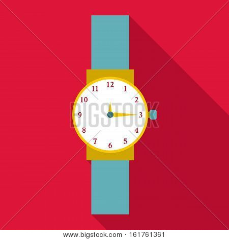 Wristwatch icon. Flat illustration of wristwatch vector icon for web