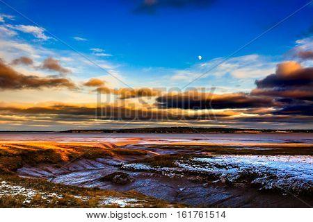 Sunset in Rock Port, New Brunswick, Canada