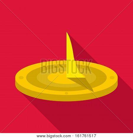 Sundial icon. Flat illustration of sundial vector icon for web