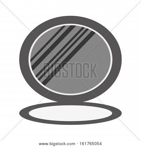 face powder icon over white background. makeup concept. vector illustration