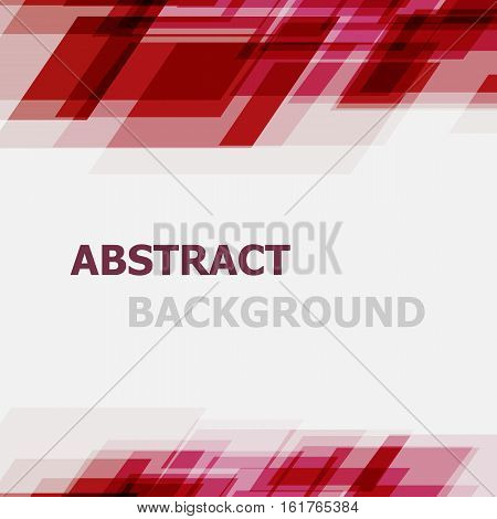 Abstract red geometric overlapping background, stock vector