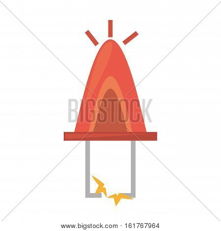 drawing red electronic transistor hardware vector illustration eps 10