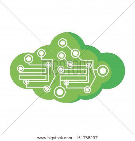 computer circuit cloud electronic component vector illustration eps 10