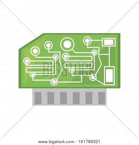 computer hardware processor card vector illustration eps 10