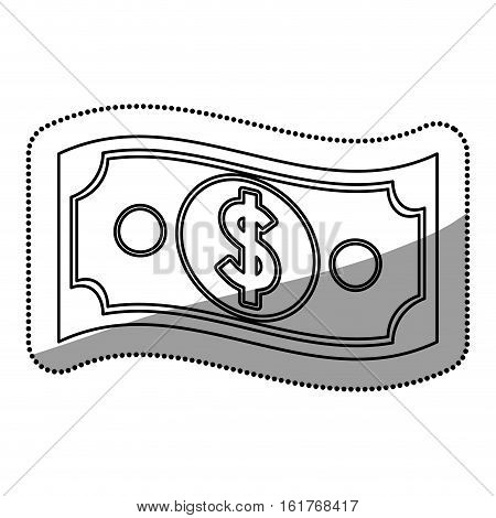 Bill icon. Money financial item commerce market and buy theme. Isolated design. Vector illustration
