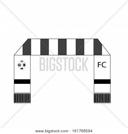 Football fans scarf icon on white background Football fans scarf symbol.