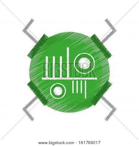 drawing technical data processor vector illustration eps 10