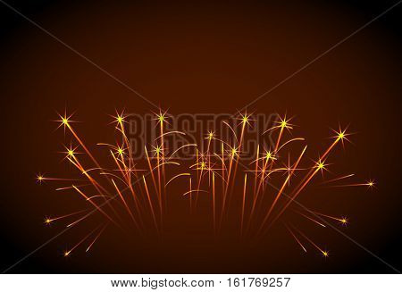 Happy New Year fireworks easy all editable