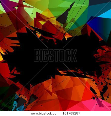 Abstract polygonal background easy all editable