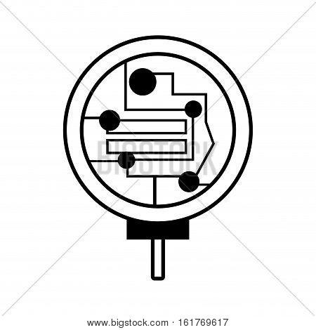 technical data processor linear vector illustration eps 10
