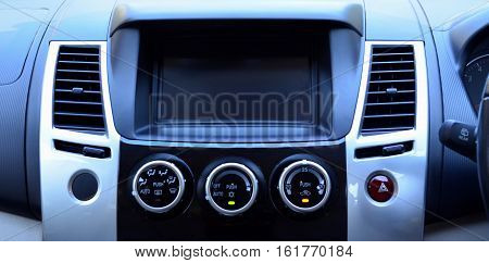 Interior air conditioner control panel in modern car