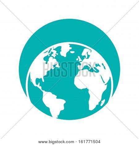 globe world eart map symbol vector illustration eps 10